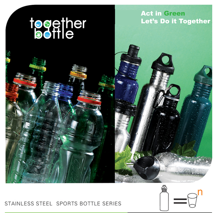 Together Bottle. Act in Green. Let's Do it Together.